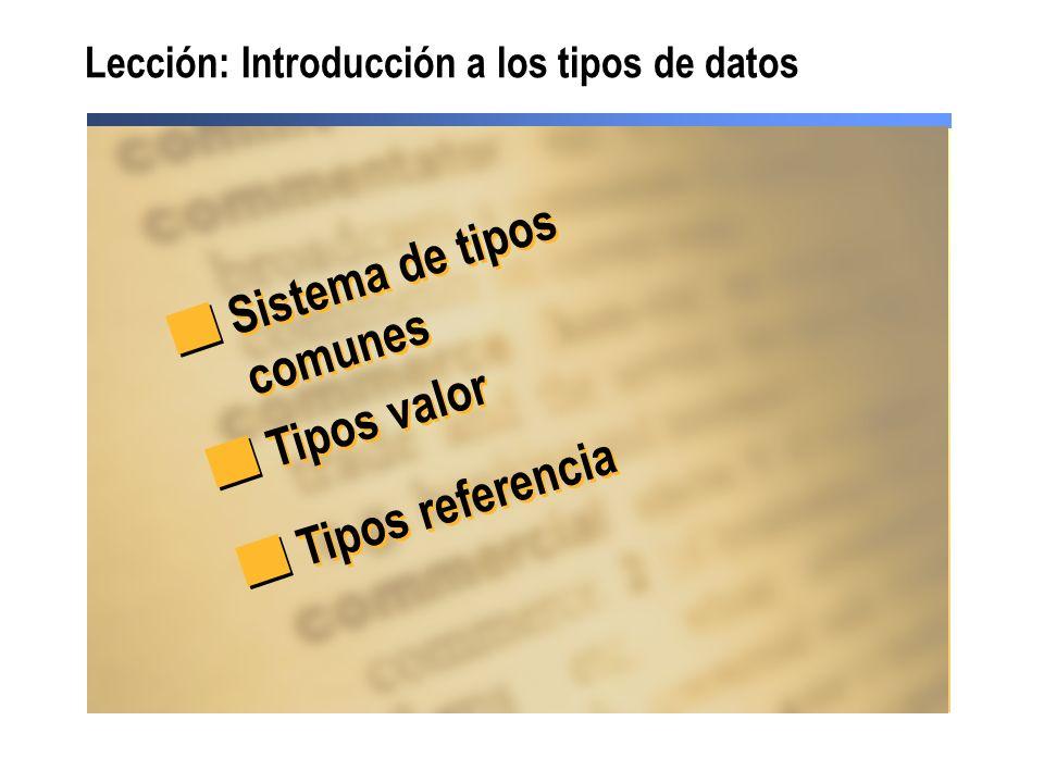 Lección: Introducción a los tipos de datos