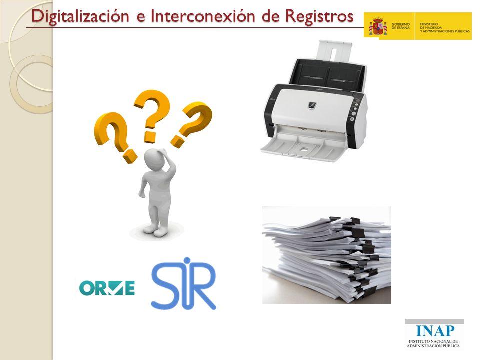Digitalización e Interconexión de Registros