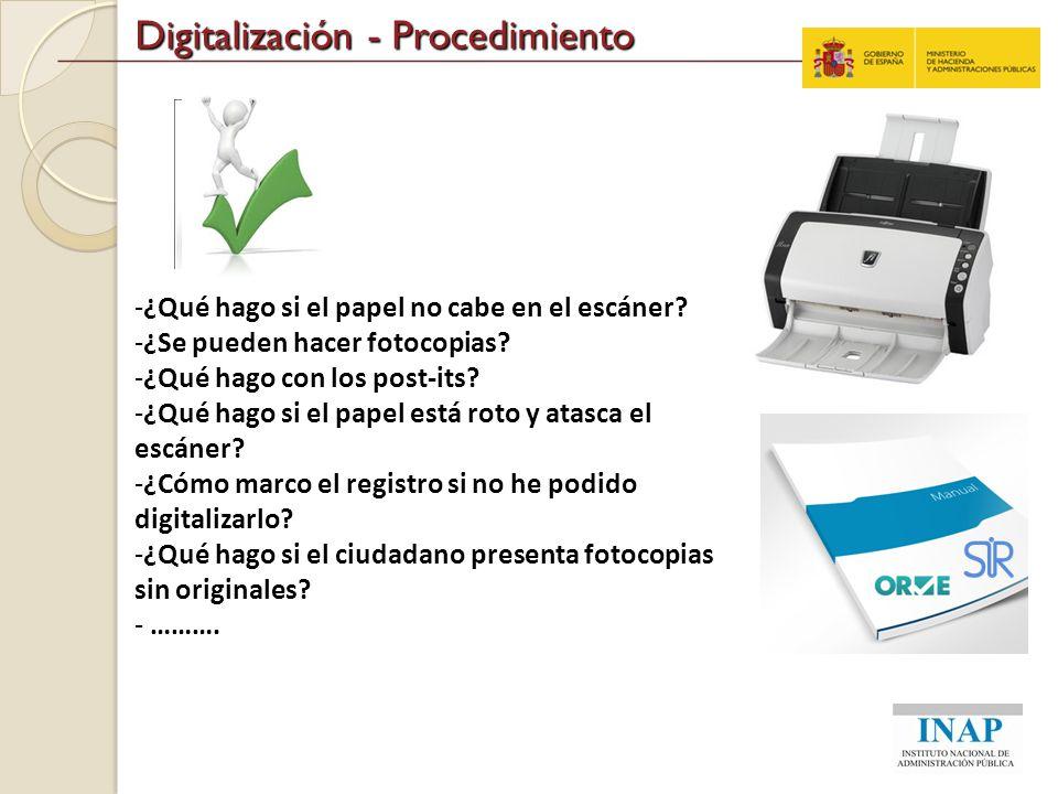 Digitalización - Procedimiento