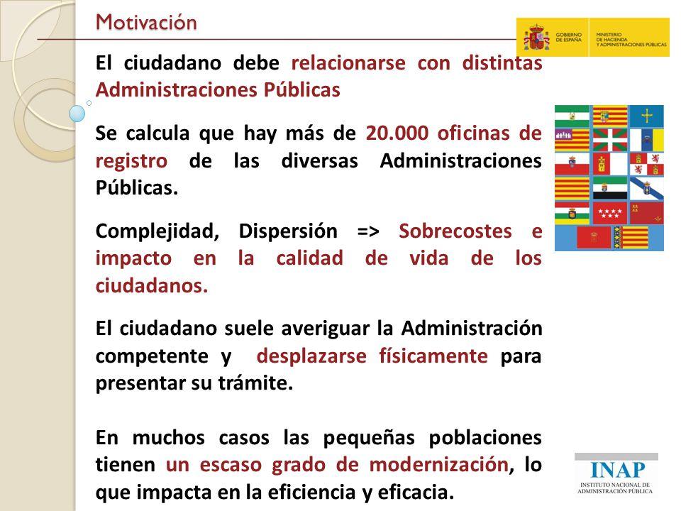 Motivación El ciudadano debe relacionarse con distintas Administraciones Públicas.