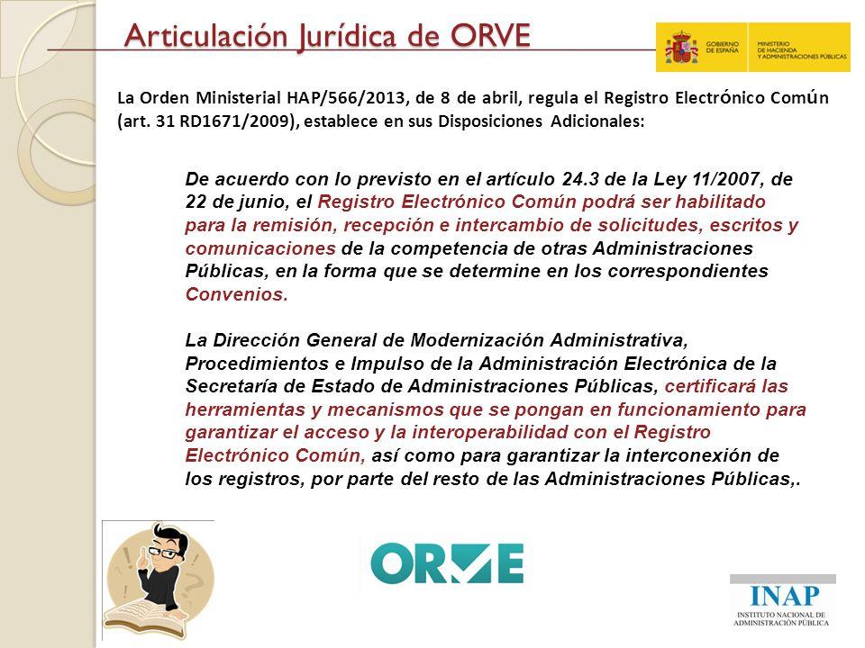 Articulación Jurídica de ORVE