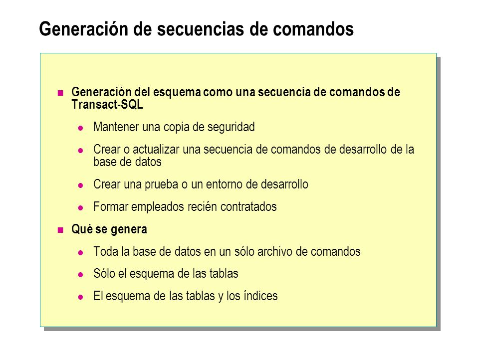 Generación de secuencias de comandos