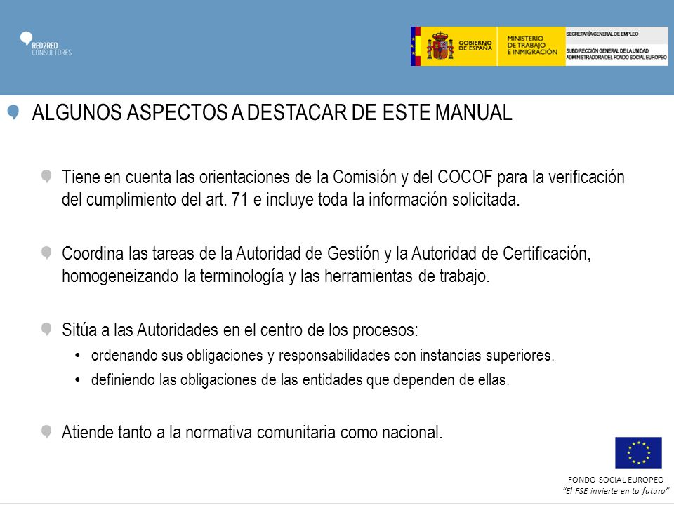 ALGUNOS ASPECTOS A DESTACAR DE ESTE MANUAL
