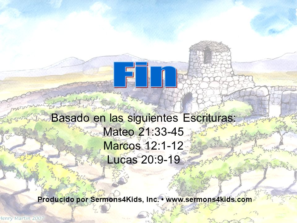 Producido por Sermons4Kids, Inc. • www.sermons4kids.com