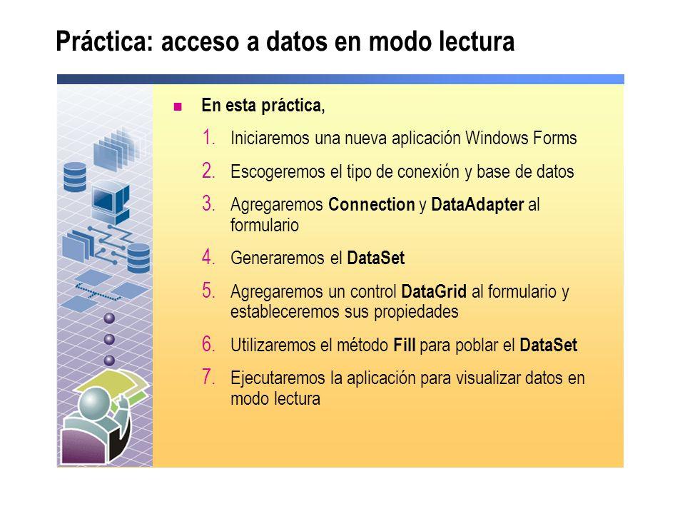 Práctica: acceso a datos en modo lectura