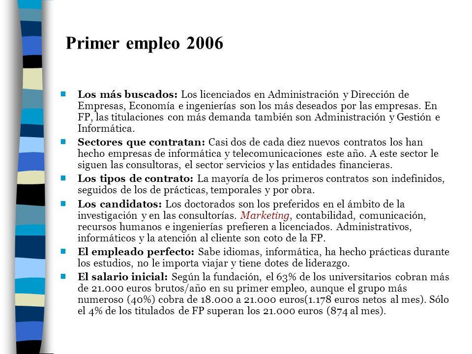 Primer empleo 2006