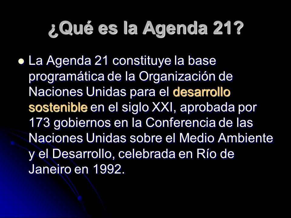 ¿Qué es la Agenda 21