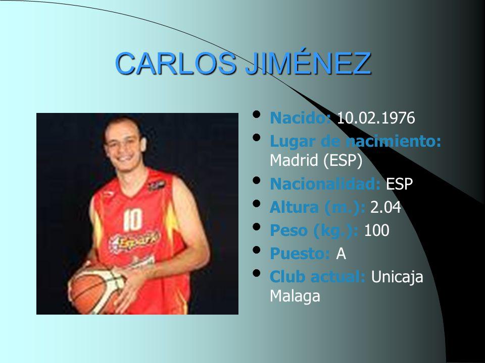 CARLOS JIMÉNEZ Nacido: 10.02.1976 Lugar de nacimiento: Madrid (ESP)