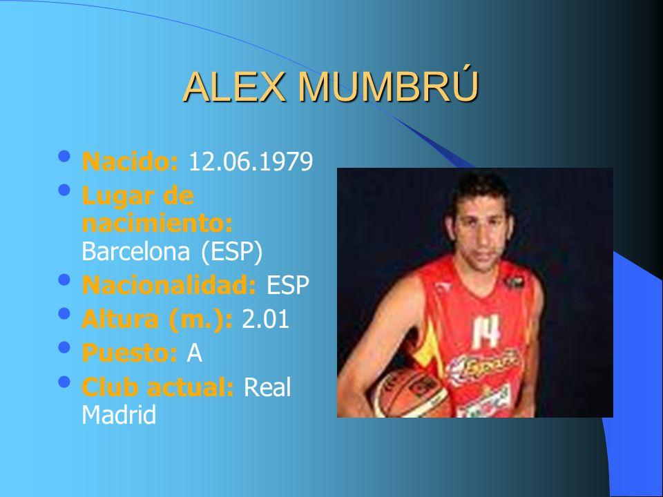 ALEX MUMBRÚ Nacido: 12.06.1979 Lugar de nacimiento: Barcelona (ESP)