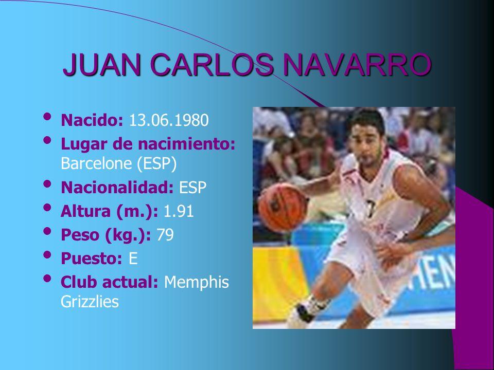 JUAN CARLOS NAVARRO Nacido: 13.06.1980