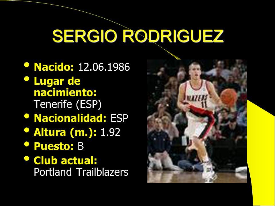 SERGIO RODRIGUEZ Nacido: 12.06.1986