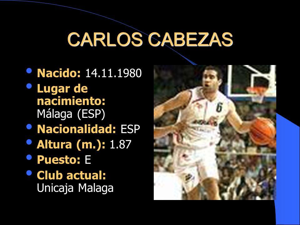 CARLOS CABEZAS Nacido: 14.11.1980 Lugar de nacimiento: Málaga (ESP)