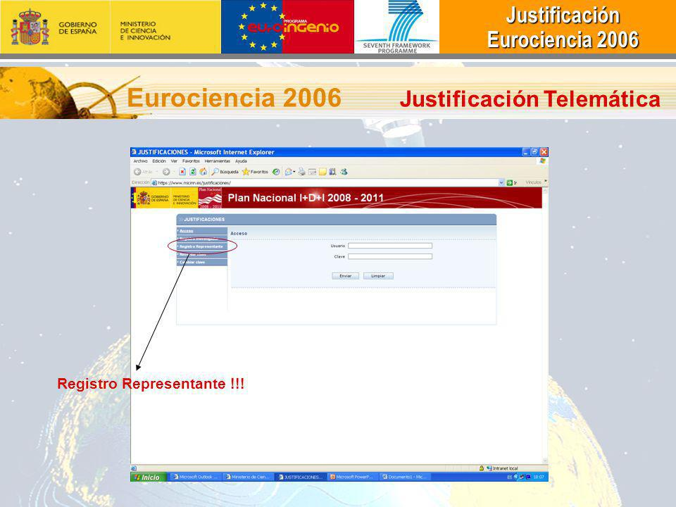 Eurociencia 2006 Justificación Telemática