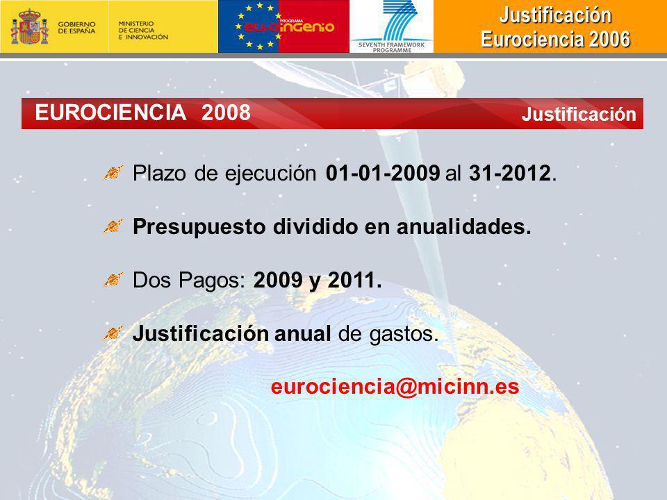 Plazo de ejecución 01-01-2009 al 31-2012.