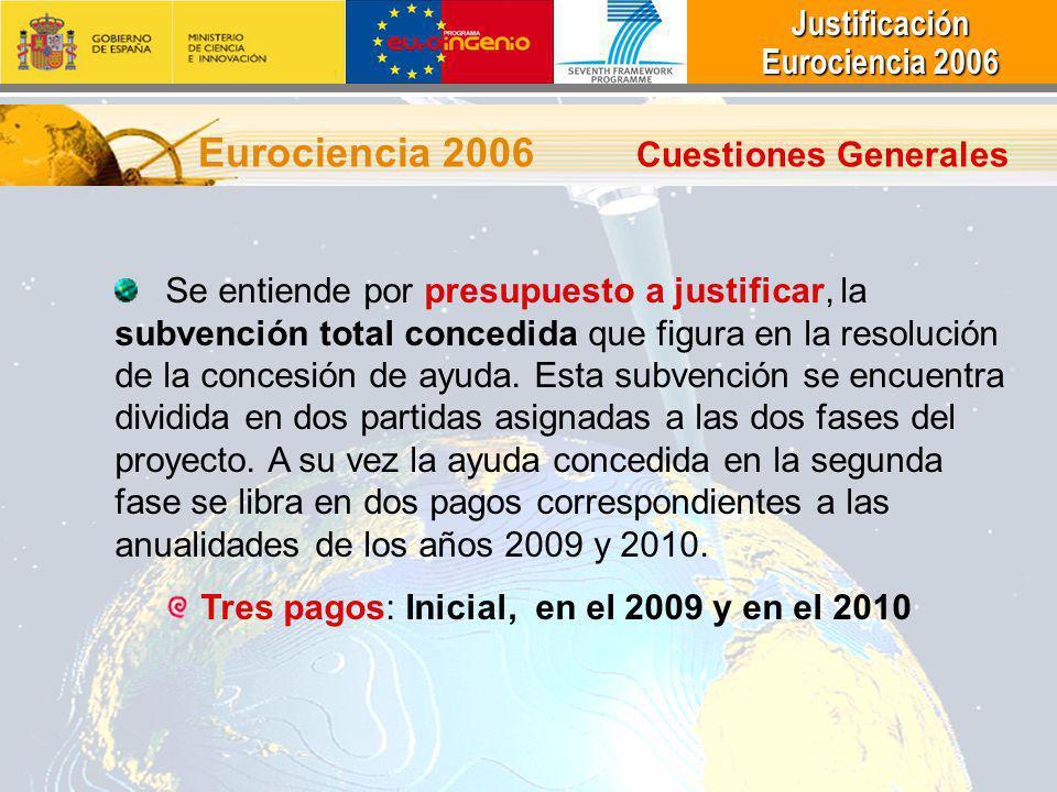 Eurociencia 2006 Cuestiones Generales