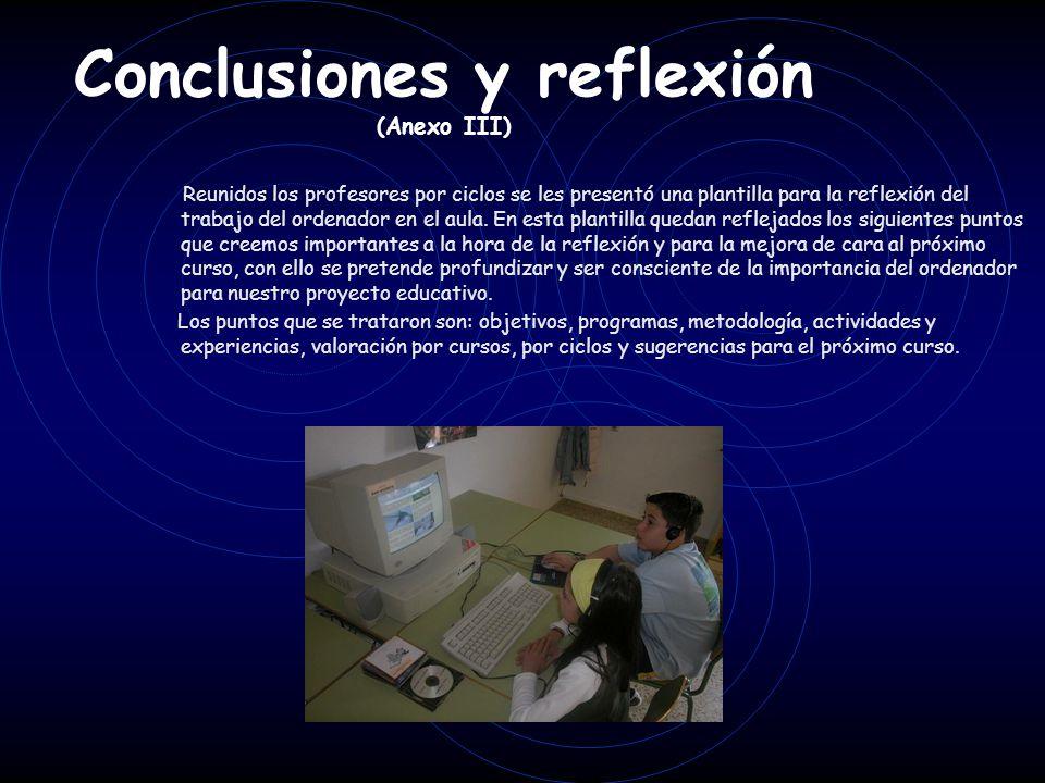 Conclusiones y reflexión (Anexo III)