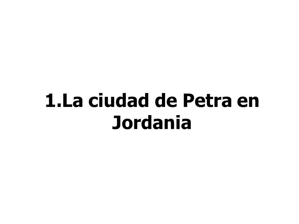 1.La ciudad de Petra en Jordania