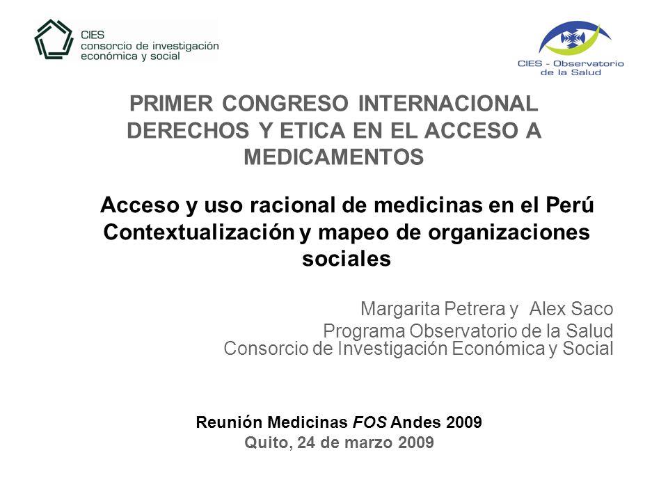 Acceso y uso racional de medicinas en el Perú