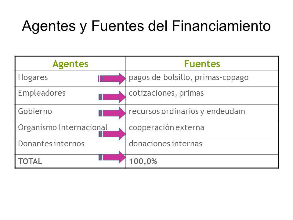 Agentes y Fuentes del Financiamiento