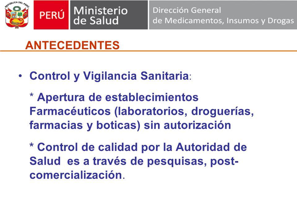 Control y Vigilancia Sanitaria: