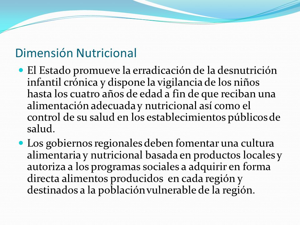 Dimensión Nutricional