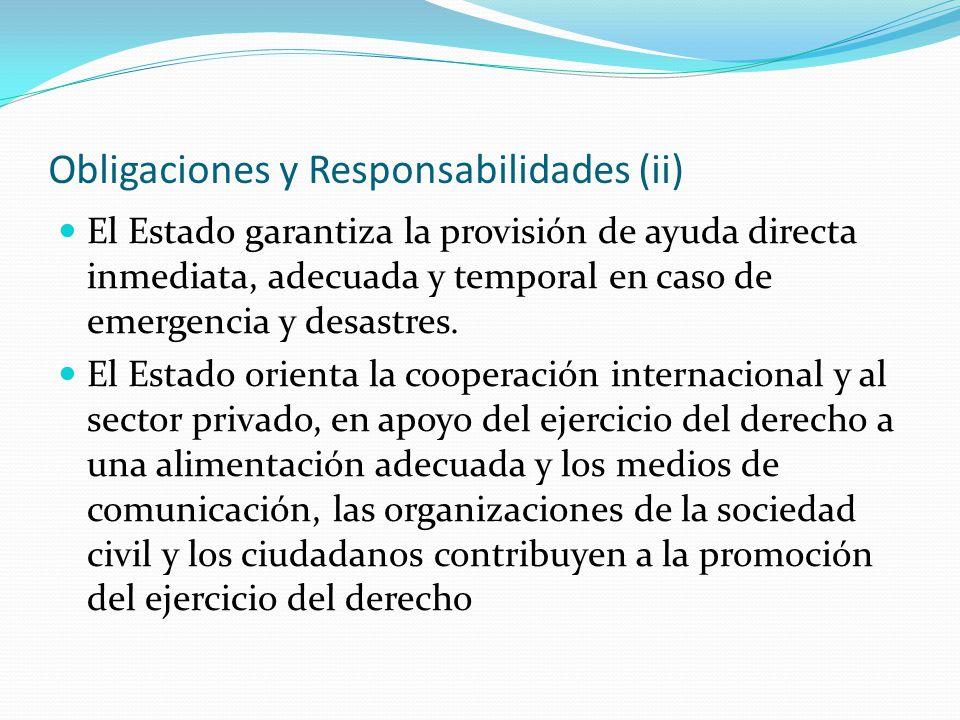 Obligaciones y Responsabilidades (ii)
