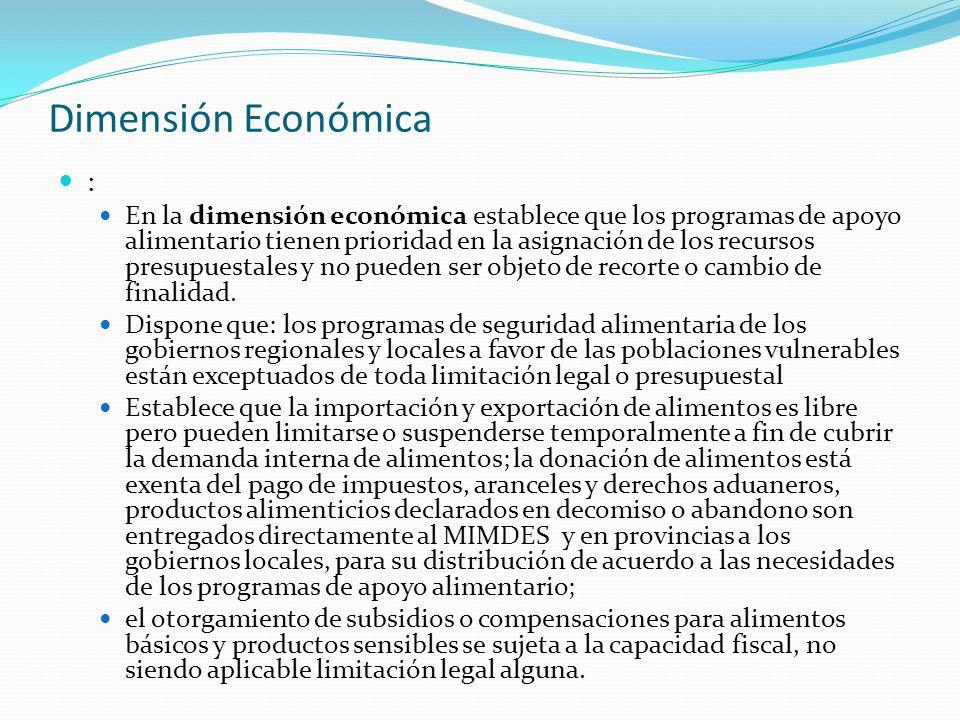 Dimensión Económica :