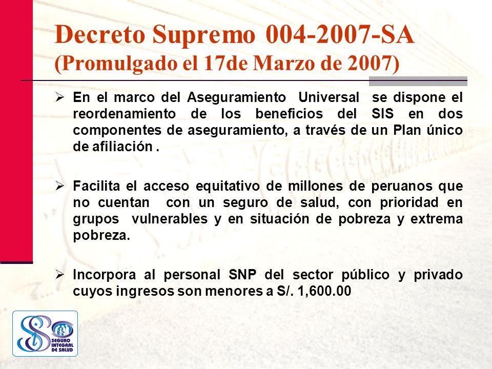 Decreto Supremo 004-2007-SA (Promulgado el 17de Marzo de 2007)