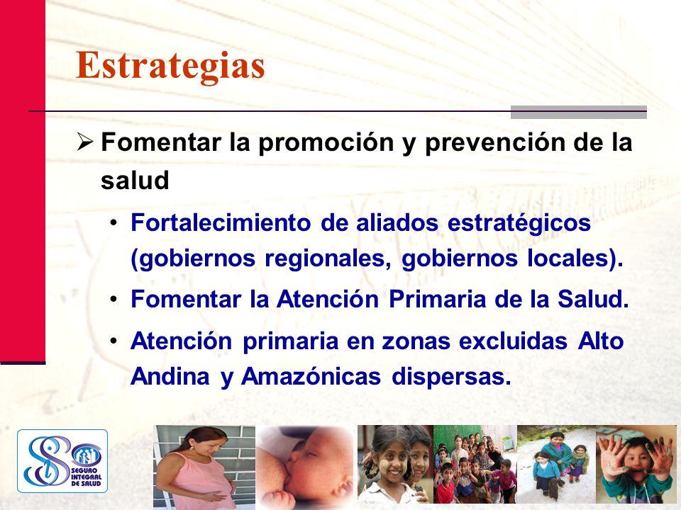 Estrategias Fomentar la promoción y prevención de la salud