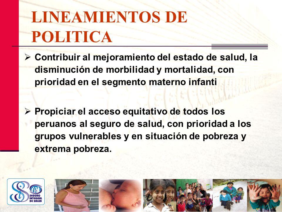 LINEAMIENTOS DE POLITICA