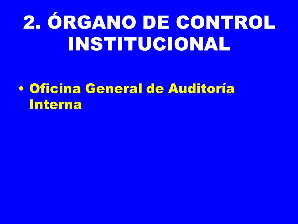 2. ÓRGANO DE CONTROL INSTITUCIONAL