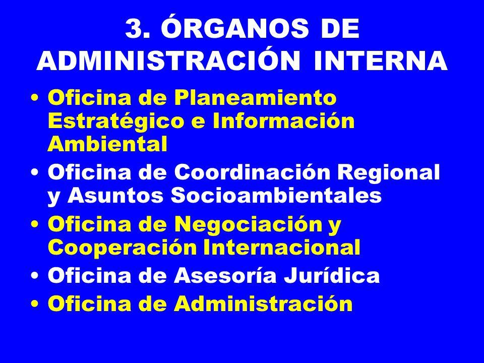 3. ÓRGANOS DE ADMINISTRACIÓN INTERNA