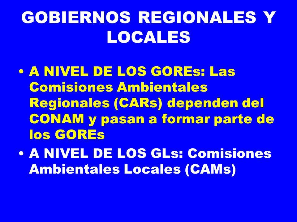 GOBIERNOS REGIONALES Y LOCALES
