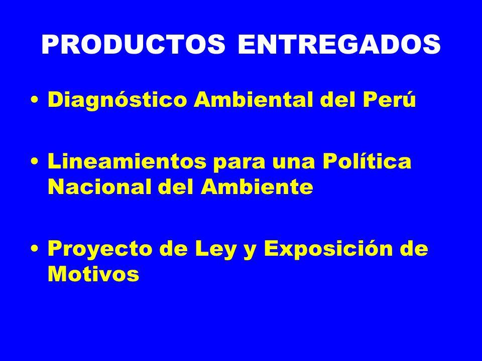 PRODUCTOS ENTREGADOS Diagnóstico Ambiental del Perú