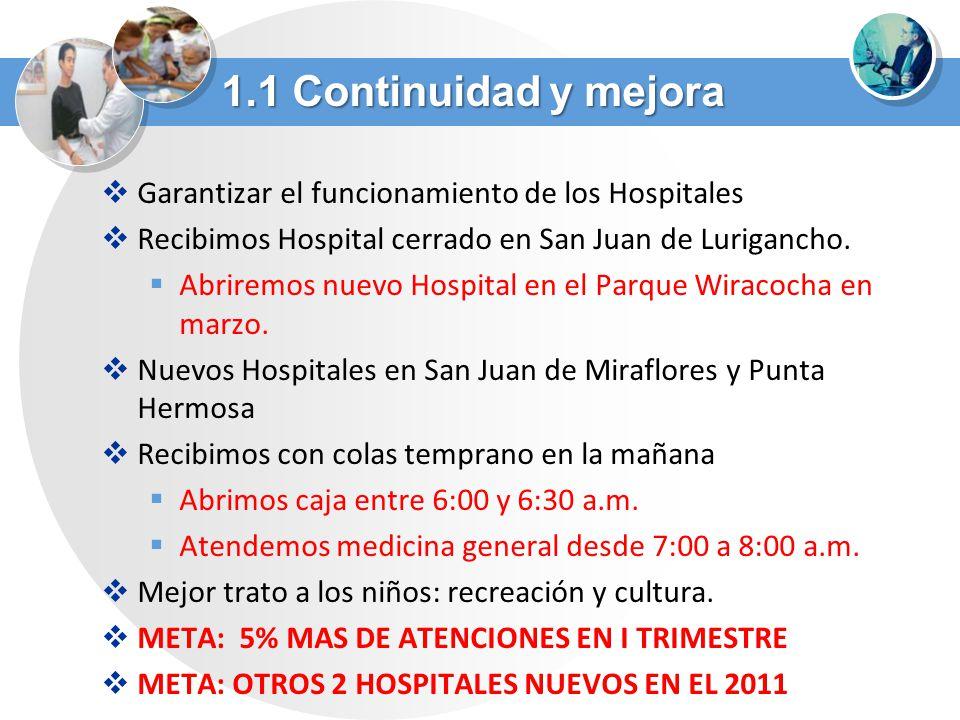 Garantizar el funcionamiento de los Hospitales