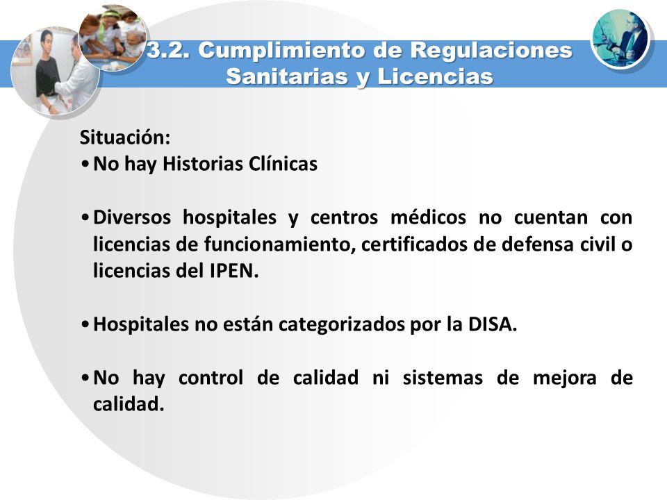 3.2. Cumplimiento de Regulaciones Sanitarias y Licencias