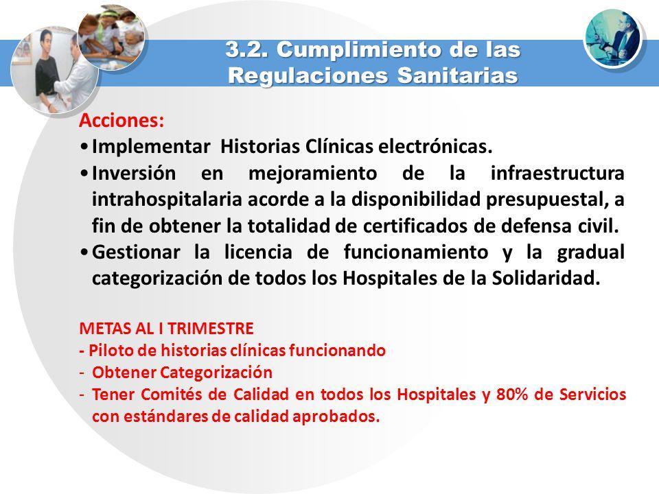 3.2. Cumplimiento de las Regulaciones Sanitarias