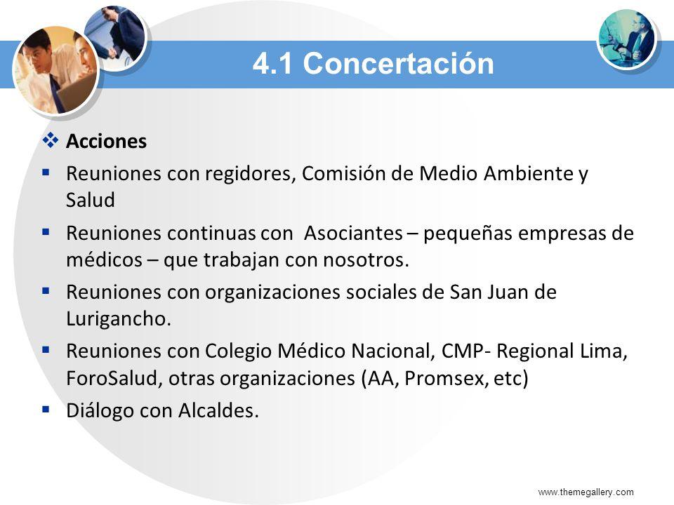 4.1 Concertación Acciones