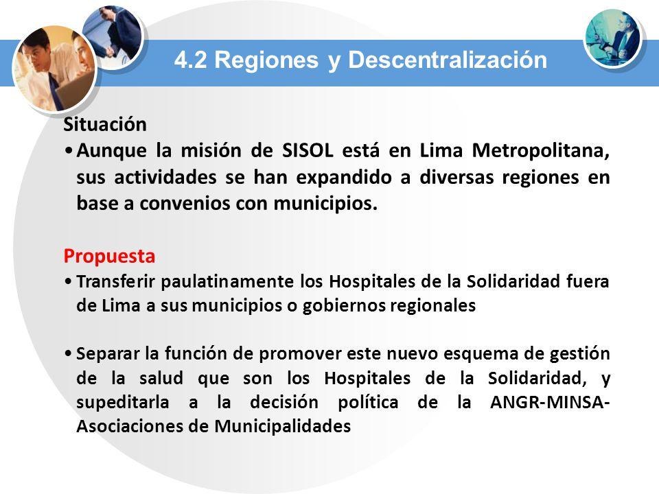 4.2 Regiones y Descentralización