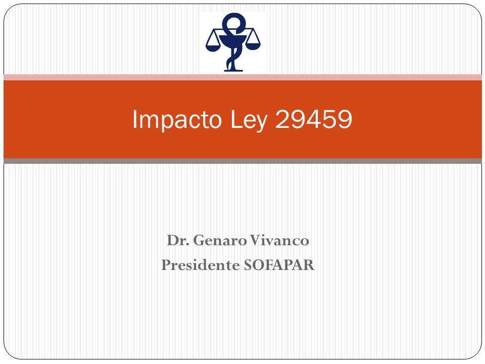 Dr. Genaro Vivanco Presidente SOFAPAR