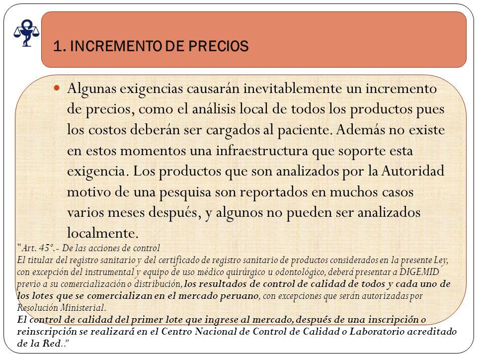 1. INCREMENTO DE PRECIOS