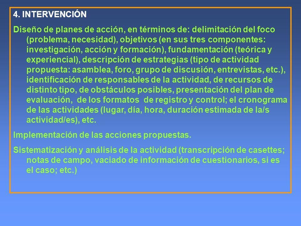 4. INTERVENCIÓN