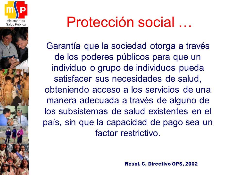 Protección social …