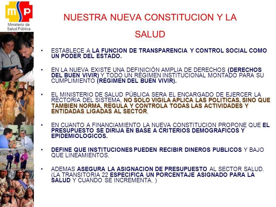 NUESTRA NUEVA CONSTITUCION Y LA SALUD