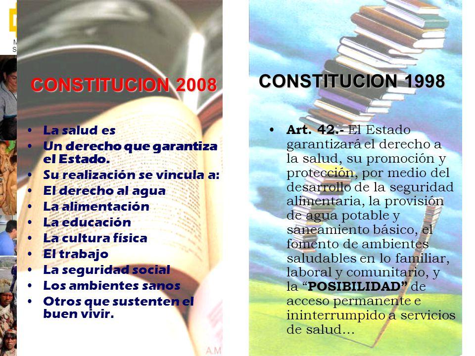 CONSTITUCION 1998 CONSTITUCION 2008