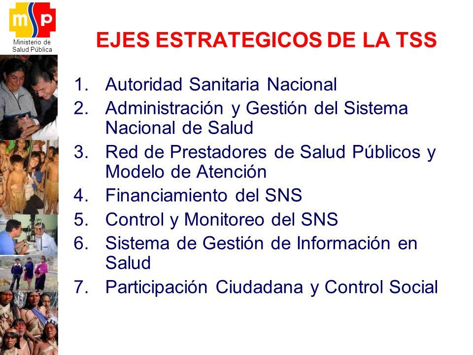 EJES ESTRATEGICOS DE LA TSS
