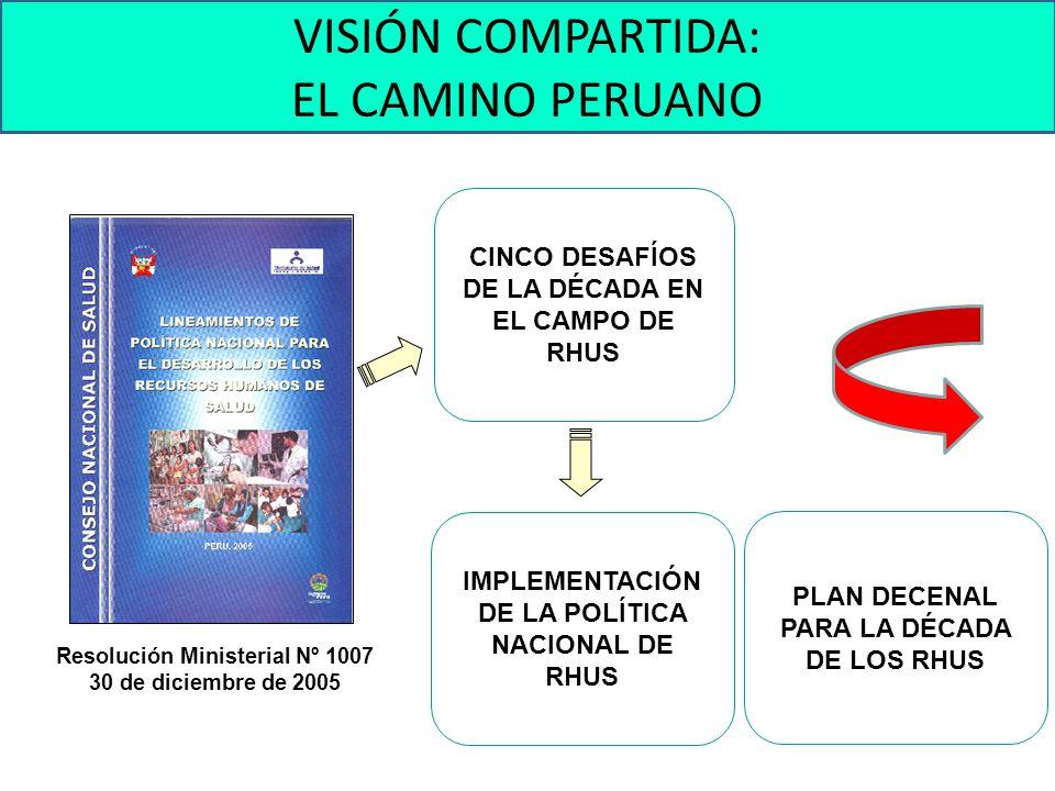 VISIÓN COMPARTIDA: EL CAMINO PERUANO