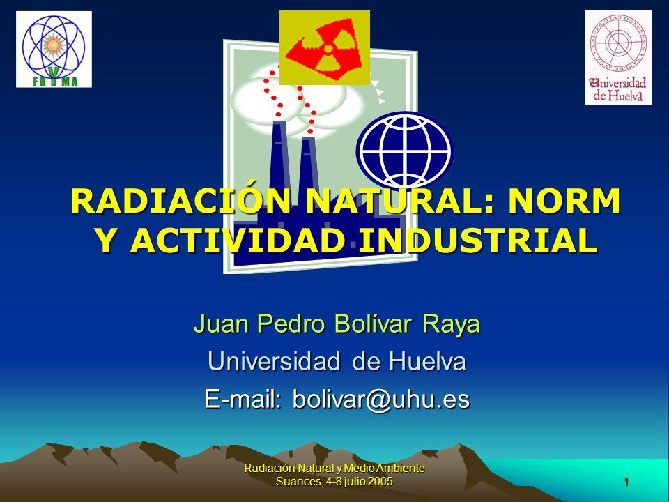 RADIACIÓN NATURAL: NORM Y ACTIVIDAD INDUSTRIAL