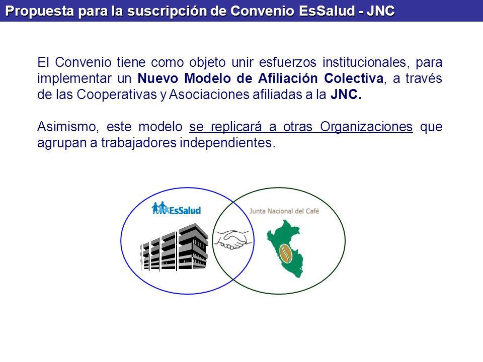 Propuesta para la suscripción de Convenio EsSalud - JNC