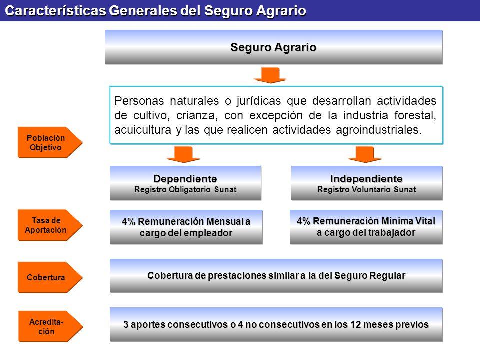 Características Generales del Seguro Agrario